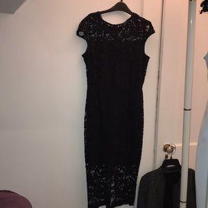 Zara lace midi dress